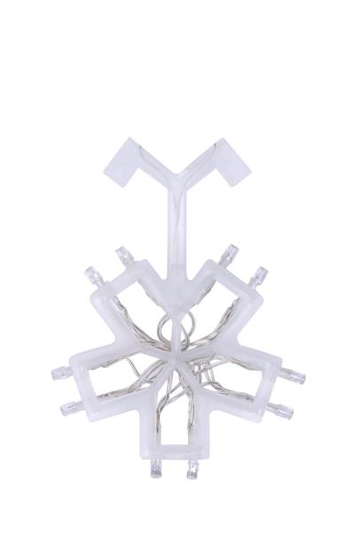 Paristokäyttöinen valosarja paperitähtiin, Pituus 150 cm, Läpinäkyvä