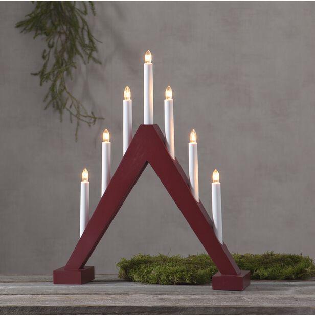 Joulukynttelikkö , Korkeus 47 cm, Punainen