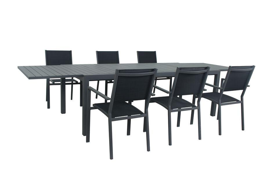 Ruokailuryhmä Palermo, 6 istumapaikkaa, Musta