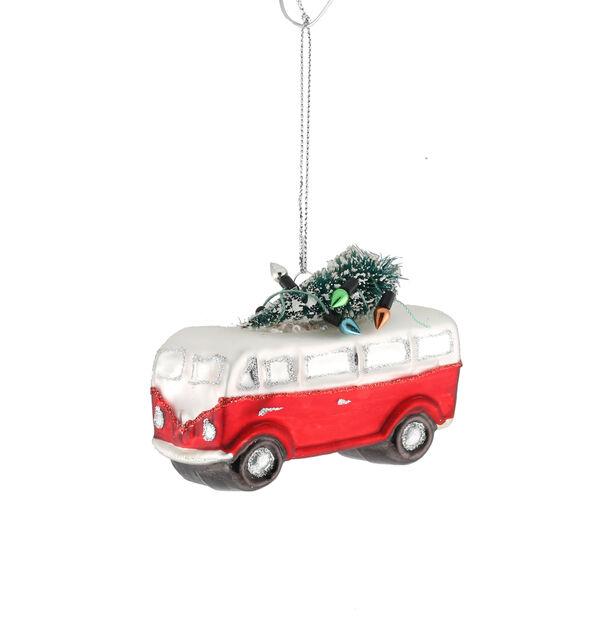 Kuusenkoriste Bussi, Korkeus 13 cm, Punainen