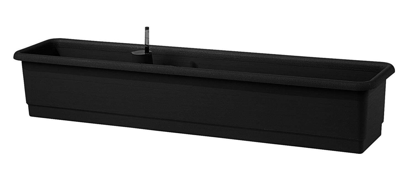 Altakasteleva parvekelaatikko Epoque, Pituus 100 cm, Musta