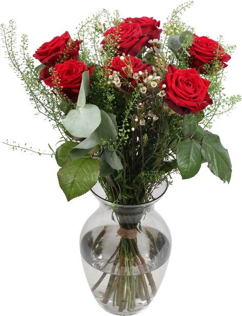 Kimppu Romantic roses, Korkeus 40 cm, Monivärinen
