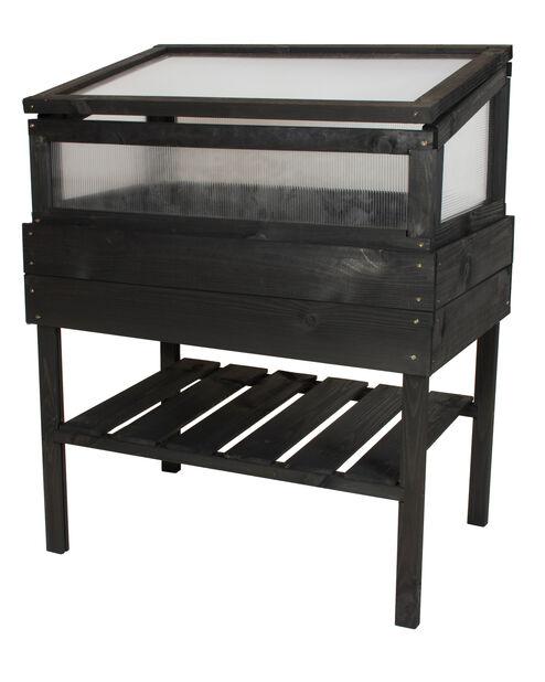 Kasvihuone ja istutuspöytä, Korkeus 98 cm, Musta