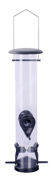 Ruokinta-automaatti siemenille, Korkeus 39.5 cm, Musta