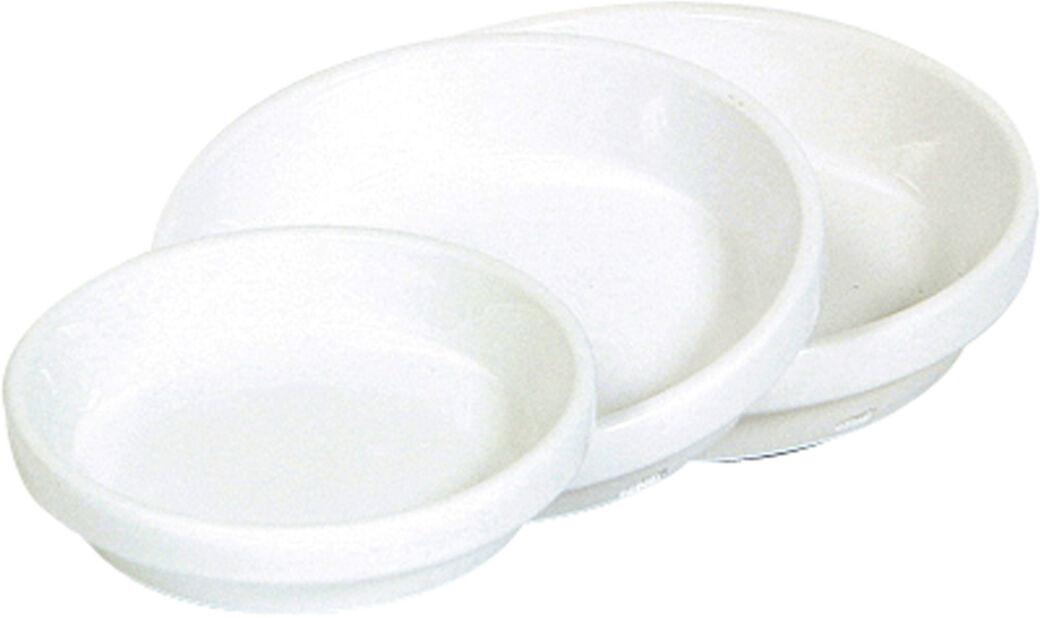 Keraaminen aluslautanen, Ø18 cm, Valkoinen