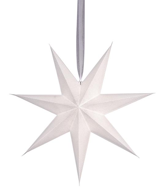 Alice-paperitähti, Ø60 cm, Valkoinen