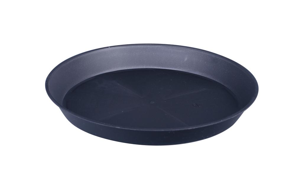 Aluslautanen Floria, Ø12 cm, Musta