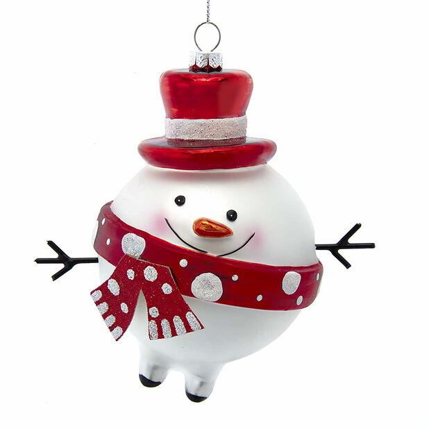 Joulupallo lumiukko, Korkeus 12 cm, Monivärinen