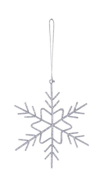 Kuusenkoriste Snowflake, Ø11 cm, Hopea
