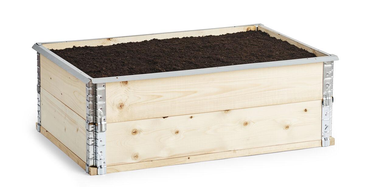 Etanaeste istutuslaatikoille, Pituus 120 cm, Hopea