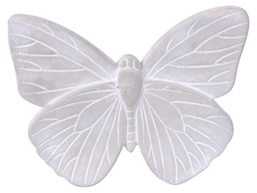 Koristeperhonen 25 cm, Pituus 25 cm, Harmaa