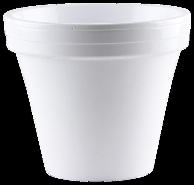 Istutusruukku, , Ø18 cm, Valkoinen