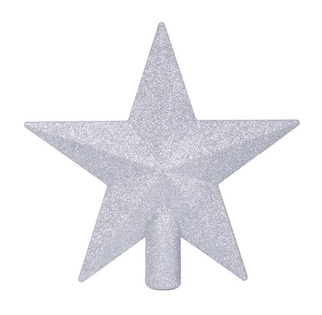 Latvatähti Glitter, Ø20 cm, Musta