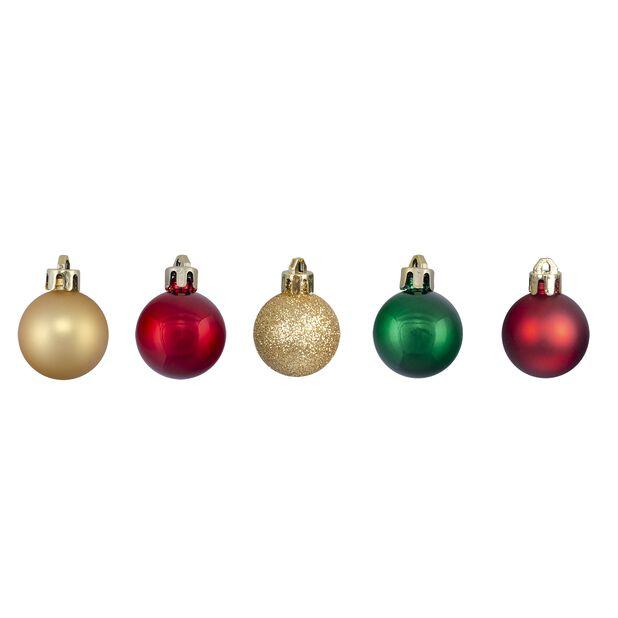 Joulupallo 20 kpl, Ø3 cm, Punainen