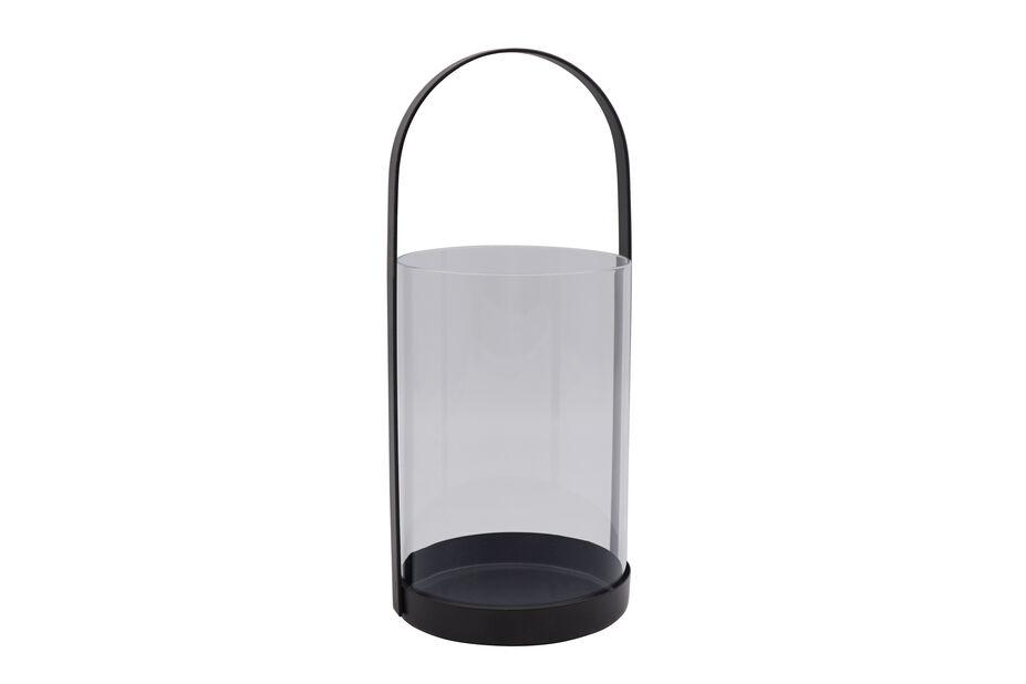 Lyhty pöytäkynttilälle, Korkeus 28 cm, Musta