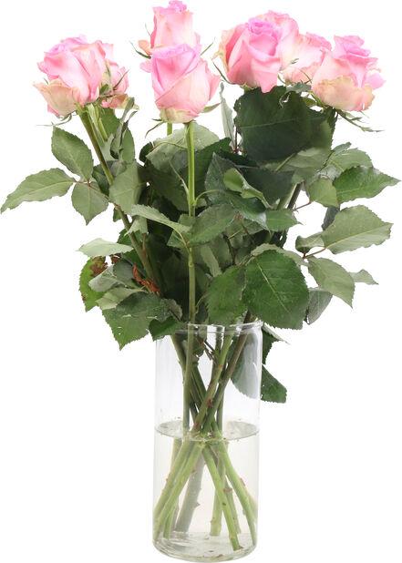 Ruusut premium 10-pakk, Korkeus 50 cm, Pinkki