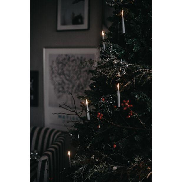 Kuusenkynttilät Slimline 16 LED-valoilla., Musta
