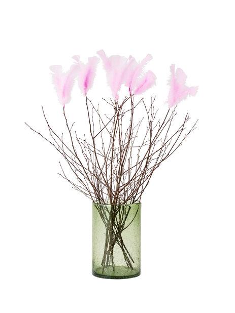 Pääsiäisoksat höyhenillä, Korkeus 80 cm, Puunvärinen