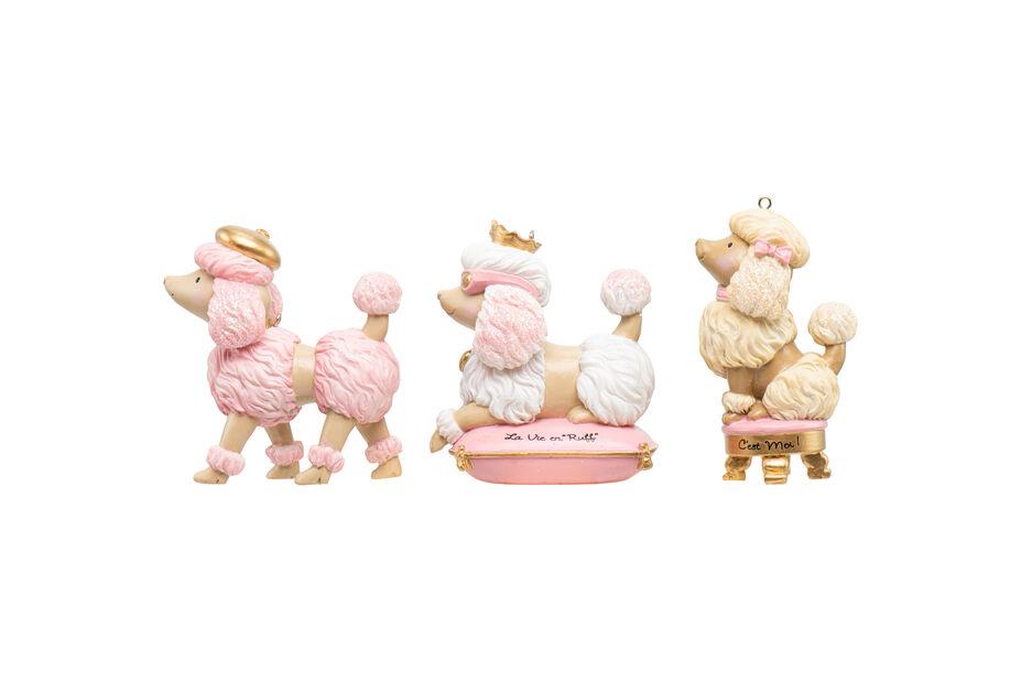 Joulukoriste villakoira, Korkeus 8 cm, Pinkki