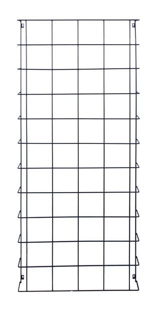 Säleikkö seinälle, Korkeus 165 cm, Musta