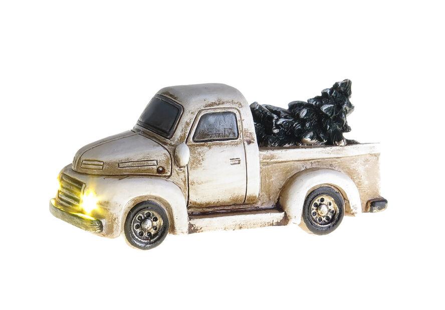 Joulukoriste lava-auto, Korkeus 5 cm, Valkoinen