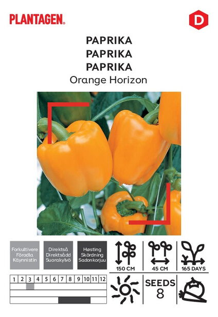 Makea chilipippuri 'Orange Horizon'