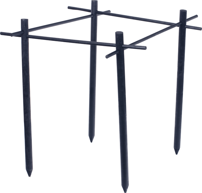 Pensastuki puuta, Pituus 75 cm, Musta