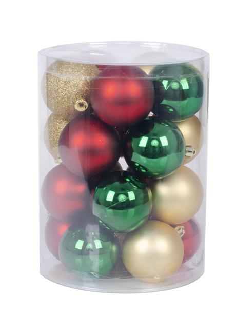 Joulupallo 20 kpl, Ø6 cm, Punainen