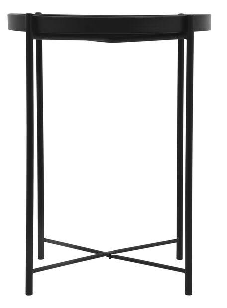 Sivupöytä Loke, Ø38 cm, Musta