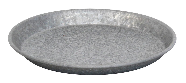Aluslautanen sinkkiä, Ø22 cm, Harmaa