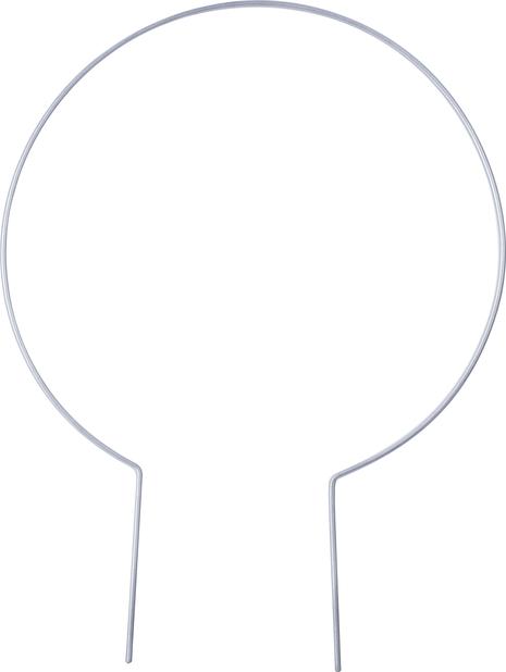 Kasvituki pyöreä , Korkeus 37 cm, Harmaa