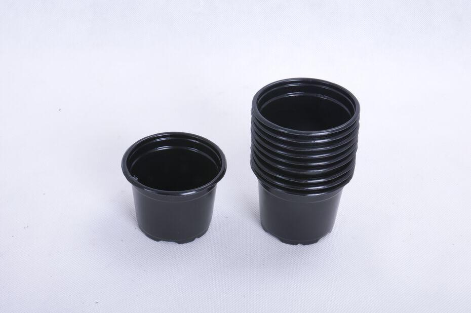 Muoviruukku pyöreä 10 kpl/pakk., Ø9.5 cm, Musta
