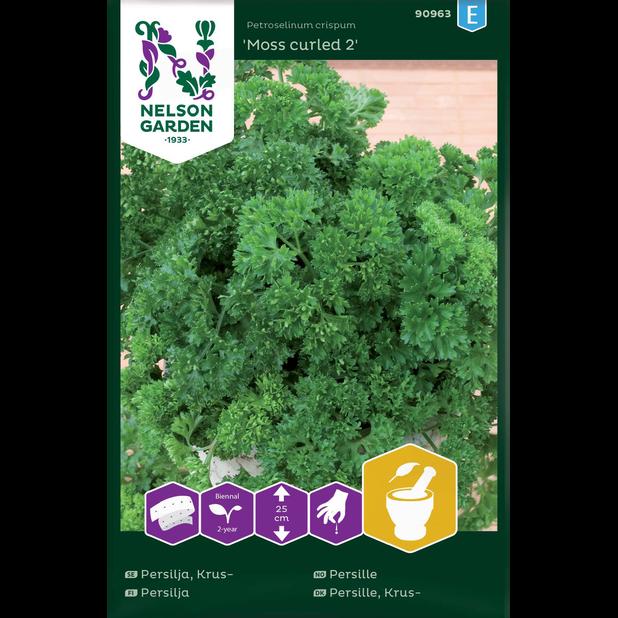 Persilja 'Moss curled 2', Monivärinen