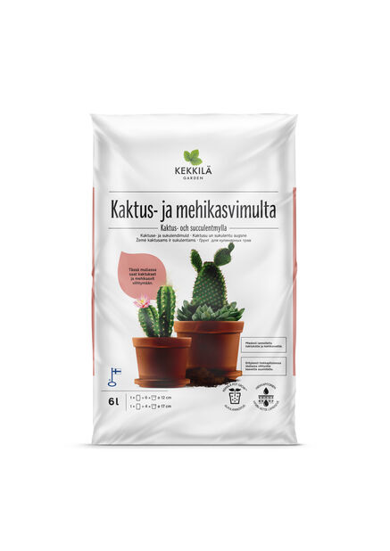 Potting mix for cactus and succulents 6 l Kekkil�