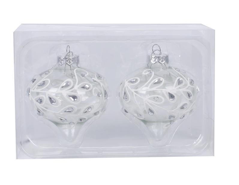Joulupallo Crystal 8 cm, lasi