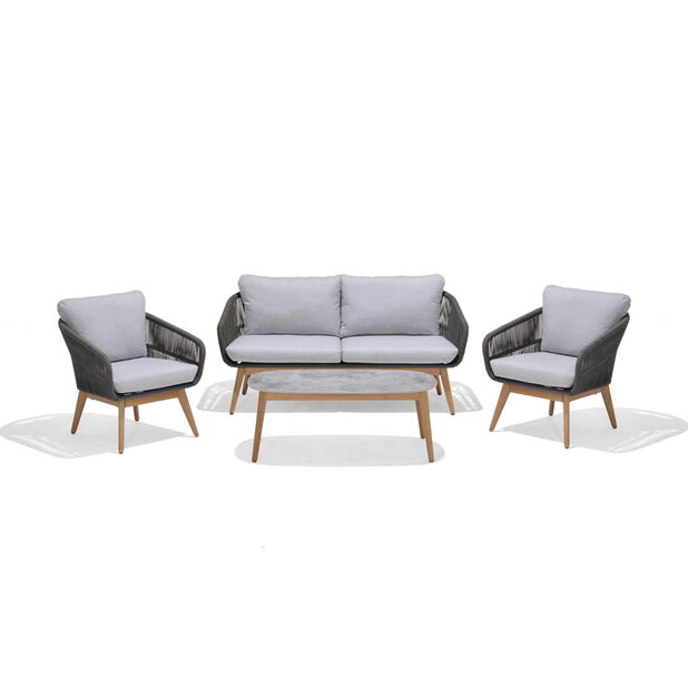 AMELAND ROPE LOUNGE SET 2+1+1