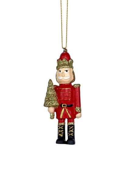 Kuusenkoriste perinteinen vartiosotilas, Korkeus 9 cm, Punainen