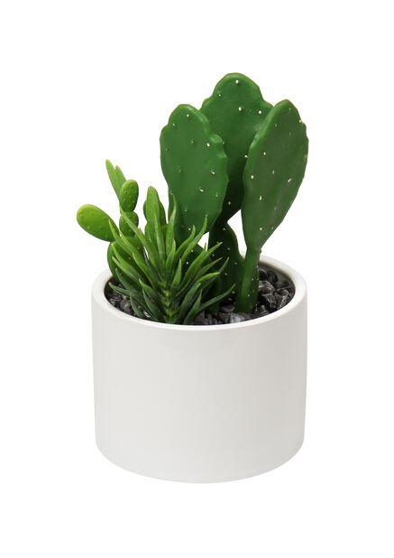 Kaktus ruukussa tekokasvi, Pituus 25 cm, Vihreä