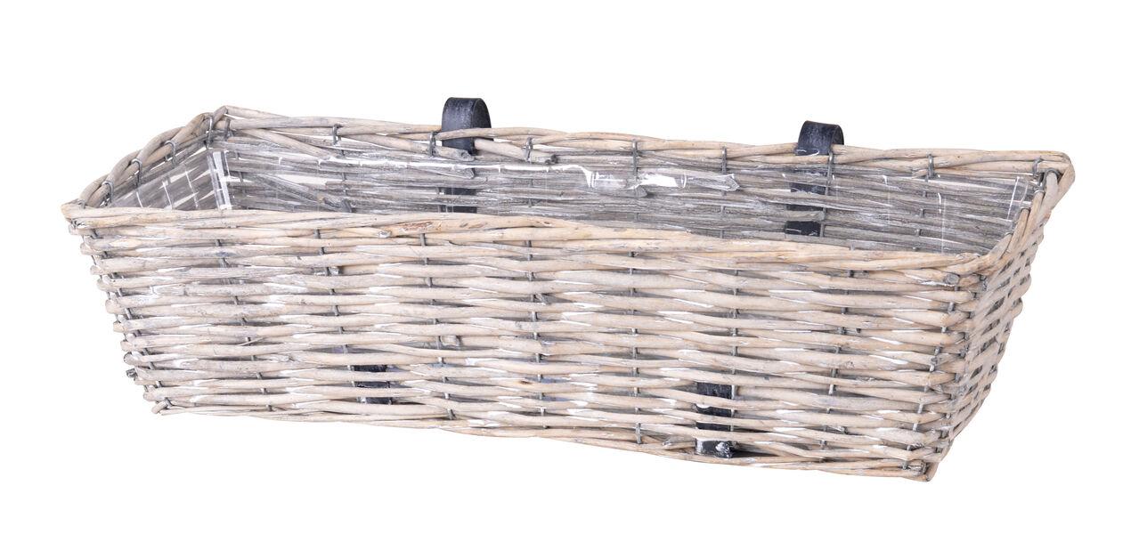 Parvekelaatikko ha, Pituus 61 cm, Harmaa