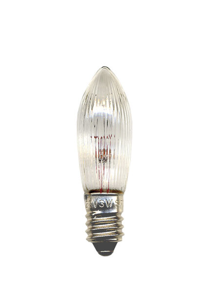 Lamppu E10 55V Clare kynttelikköön, 3 kpl, Läpinäkyvä