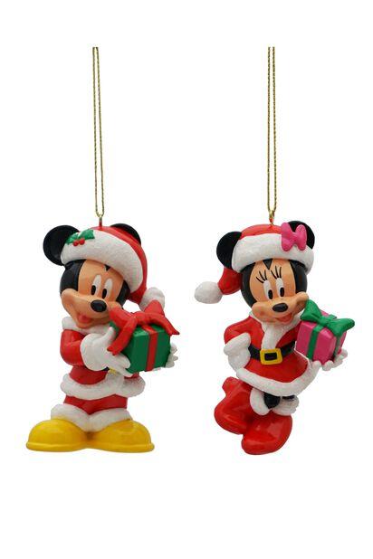 Joulukoriste Disney-hahmot Mikki ja Minni, Korkeus 9 cm, Monivärinen