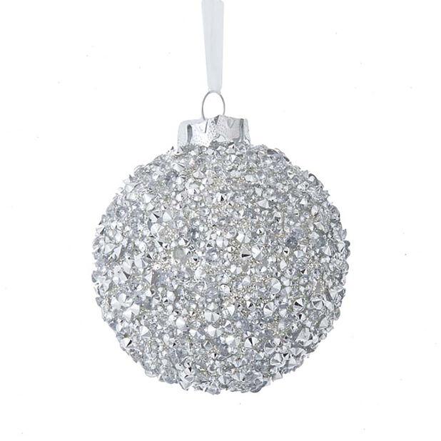 Joulupallo timantit, Korkeus 8.5 cm, Monivärinen