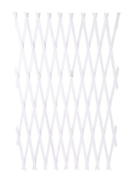 Säädettävä säleikkö, Pituus 2.6 m, Valkoinen