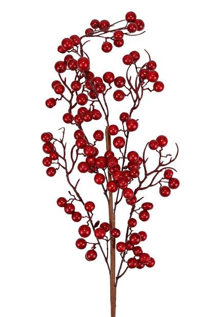 Keinotekoinen oksa punaisin marjoin, Korkeus 71 cm, Punainen