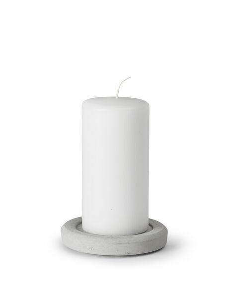 Kynttiläalusta, Ø12 cm, Harmaa