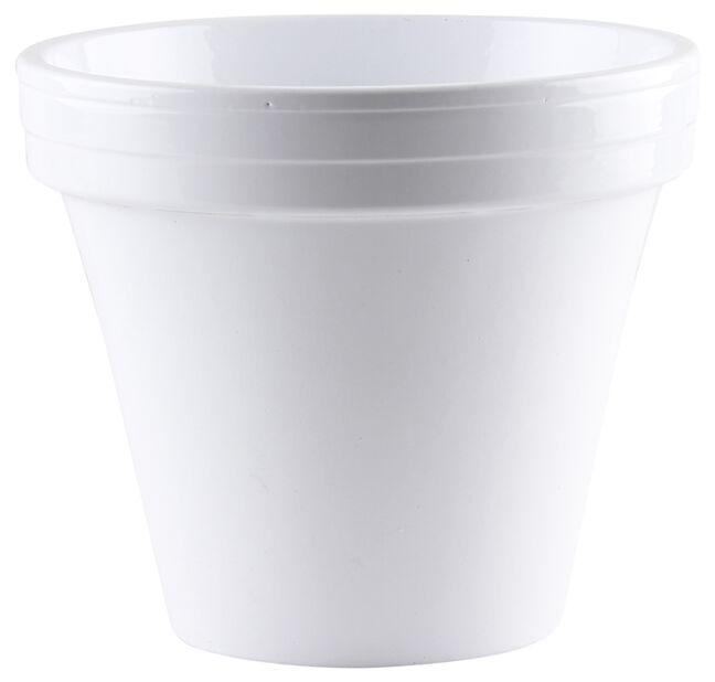 Keraaminen ruukku, Ø18 cm, Valkoinen