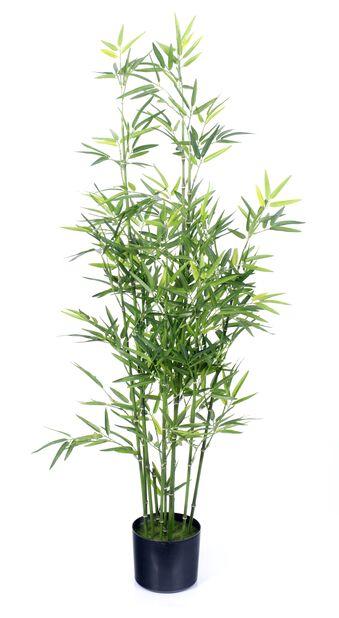 Bambu ruukussa tekokasvi, Korkeus 122 cm, Vihreä