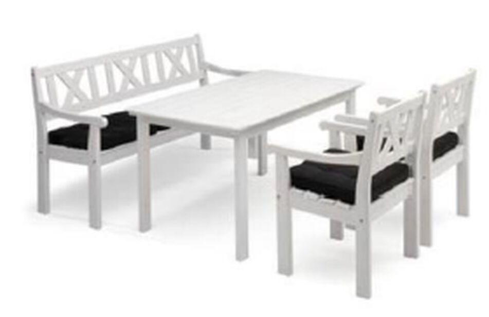 Pöytä Malva, Pituus 135 cm, Valkoinen
