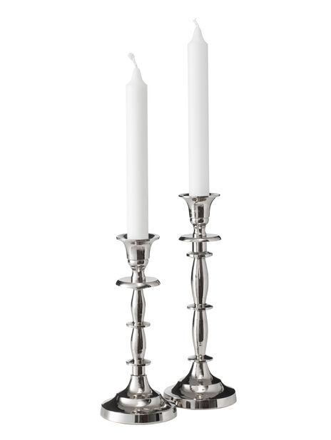 Kynttilänjalka Amelia, Korkeus 22 cm, Hopea