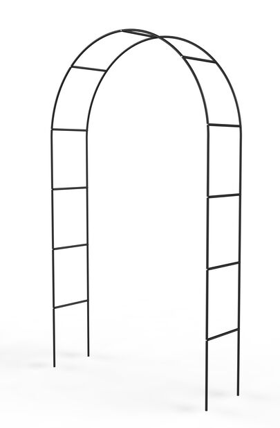 Ruusukaari, Korkeus 220 cm, Musta